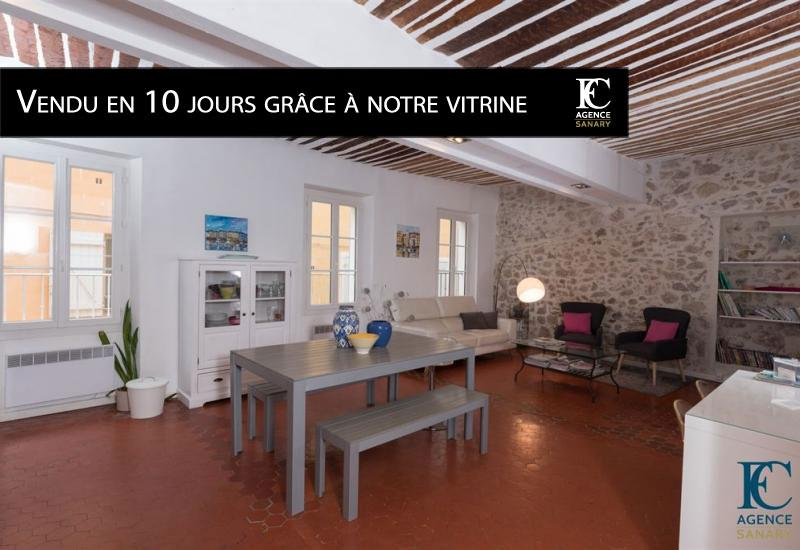 Appartement T4 à Sanary centre ville rue pietonne
