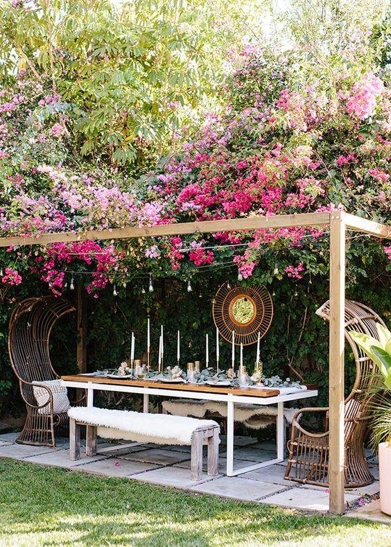 pergola plante grimpante aménager terrasse balcon