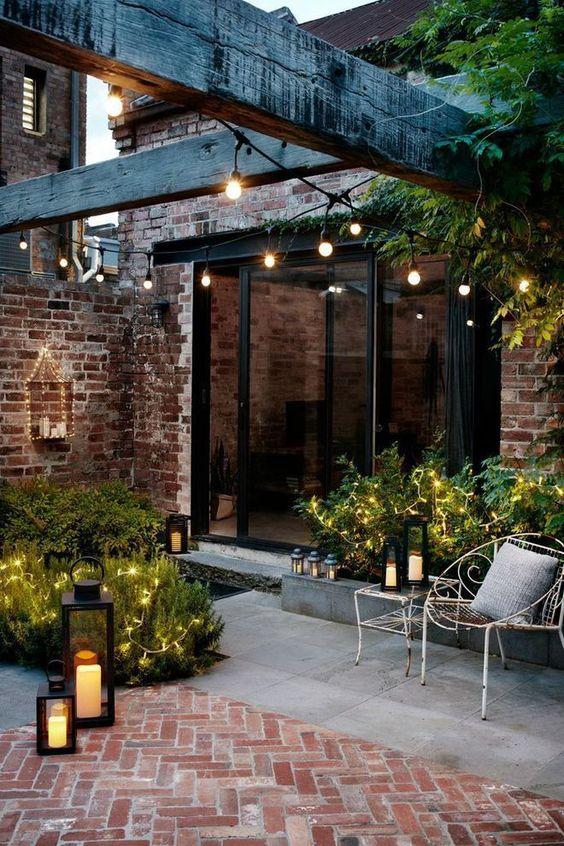 terrasse jardin extérieur esprit lounge